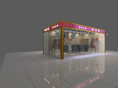 服裝店展覽模型