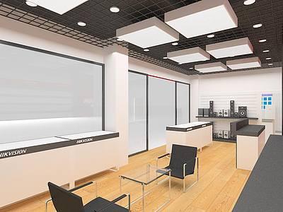 電腦監控展柜專賣店展覽模型