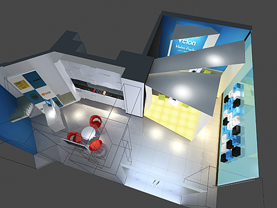 展廳展覽模型
