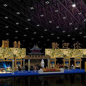 旅游展展覽模型