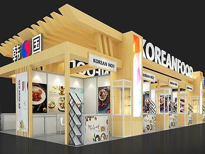 韓國食品展臺展覽模型