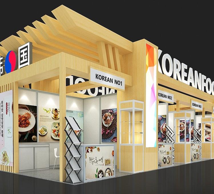 韩国食品展台