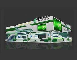 中国邮政展览模型
