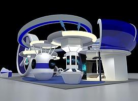 航空科技展展览模型