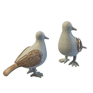 鸽子摆件3d模型