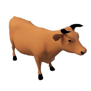 黄牛3d模型