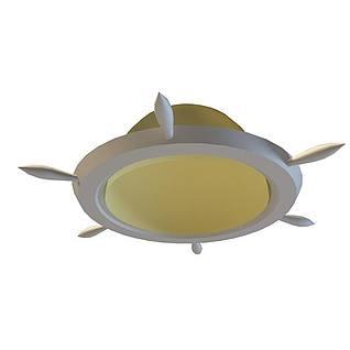 船舵型射灯3d模型