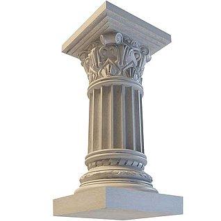 装饰柱3d模型