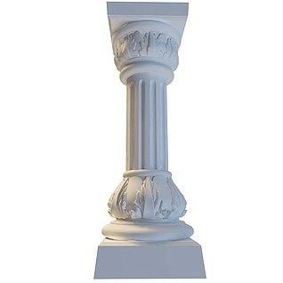 罗马柱3d模型