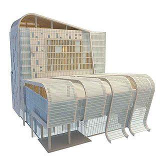 室外办公楼3d模型
