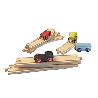 儿童玩具轨道车3d模型
