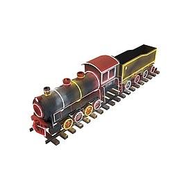 3d儿童玩具轨道火车模型