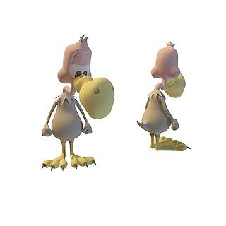 大嘴鸟玩具3d模型