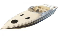 双人游艇模型3d模型
