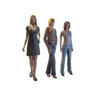 姐妹花3d模型