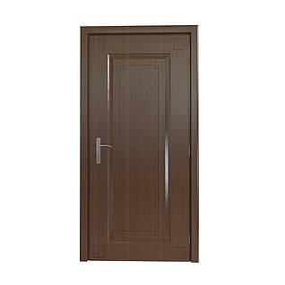 木质平开门3d模型