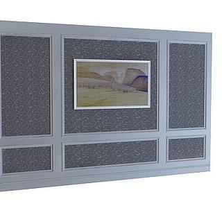 方形背景墙3d模型