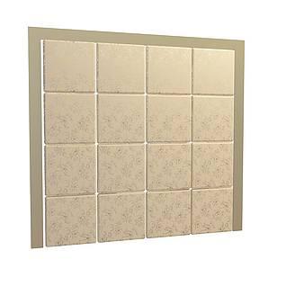 床头软包背景墙3d模型