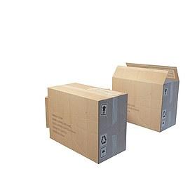 方形纸箱模型