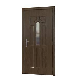 卧室平开门3d模型