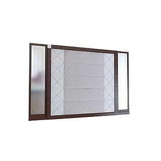 现代背景墙电视背景墙3d模型