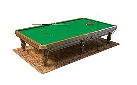 台球桌设备3d模型