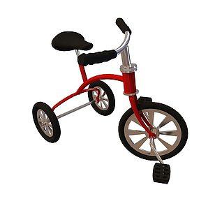 三轮自行车3d模型