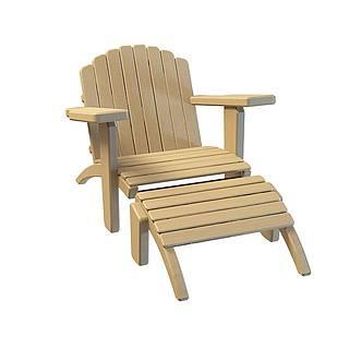户外休闲椅3d模型