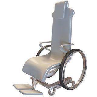高档轮椅3d模型