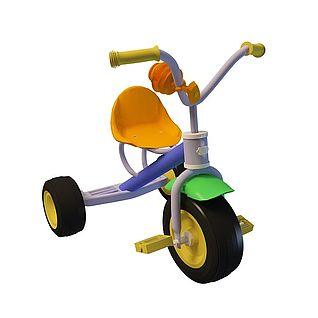 儿童玩具三轮车3d模型