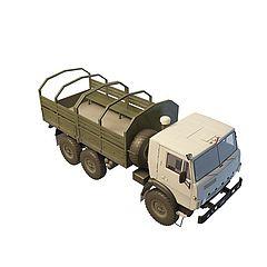 军队运兵卡车模型3d模型
