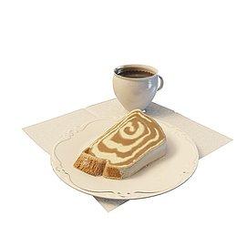 咖啡<font class='myIsRed'>蛋糕</font>套餐3d模型