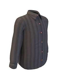 3d男士衬衫模型