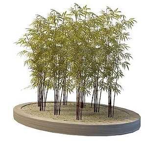 園林景觀竹子3d模型