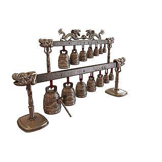 古代编钟乐器3d模型