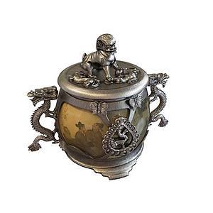 雕龙中国风青铜器模型
