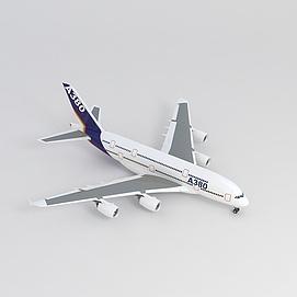 3dA380客机模型