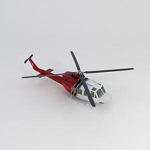 3d直升飛機模型