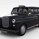 黑色老爷车模型