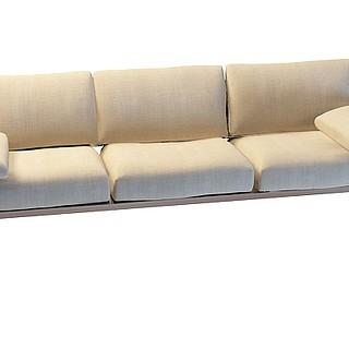 休闲三人沙发3d模型