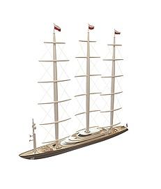 现代航海<font class='myIsRed'>帆船</font>3d模型