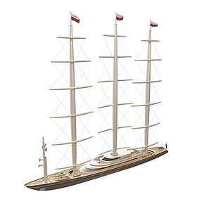 3d現代航海<font class='myIsRed'>帆船</font>模型