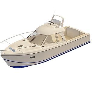 观光小游艇3d模型