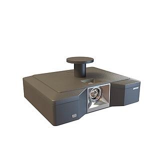 多媒体投影机3d模型