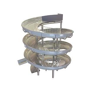循环游乐滑梯3d模型
