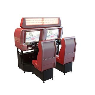 游戏厅赛车机3d模型