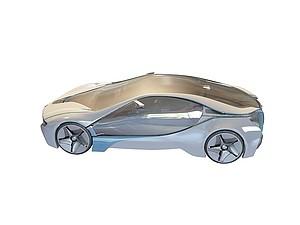 3d概念宝马车模型