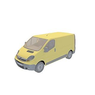 封闭面包车3d模型