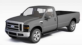 福特皮卡车3d模型