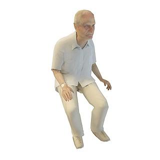 老年男人3d模型